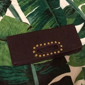 Dark Eggplant purple clutch handbag